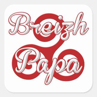 Brittany breizh dad square sticker