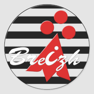 Brittany Breizh stoat Classic Round Sticker