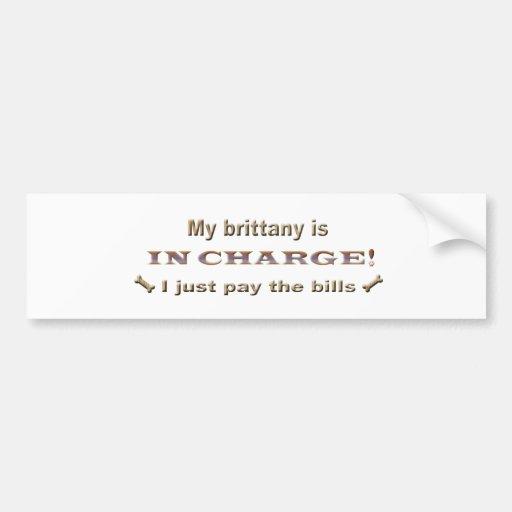brittany bumper sticker