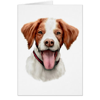 Brittany Bust Greeting Card