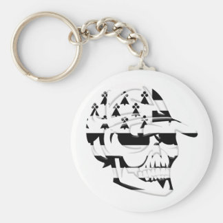Brittany death's head keychain