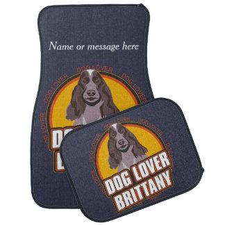 Brittany Dog Breed Lover Custom Name Car Mat
