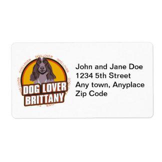 Brittany Dog Lover Label