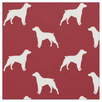 Brittany Dog Silhouettes Pattern Fabric