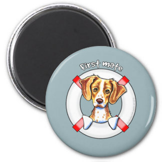 Brittany First Mate 2 Inch Round Magnet