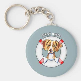 Brittany First Mate Basic Round Button Keychain