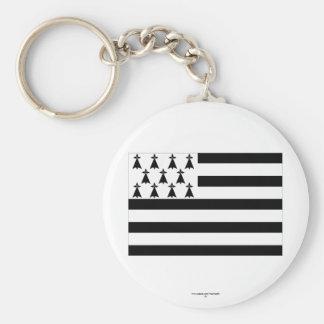 Brittany Flag Basic Round Button Keychain