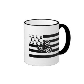 Brittany Flag (Breton) Ringer Coffee Mug