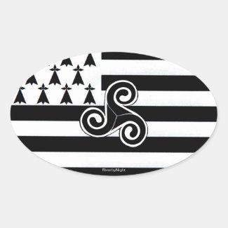 Brittany Flag (Breton) Stickers
