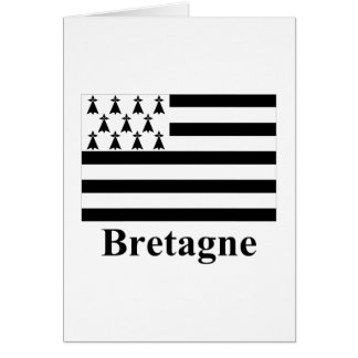 Brittany Flag with Name in French Card