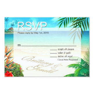 Brittany & Gerald Exotic Beach RSVP ::custom:: Card