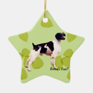 Brittany ~ Green Leaves Design Christmas Tree Ornaments