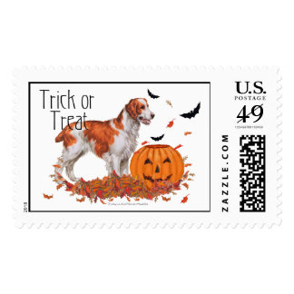 Brittany Halloween Postage Stamps
