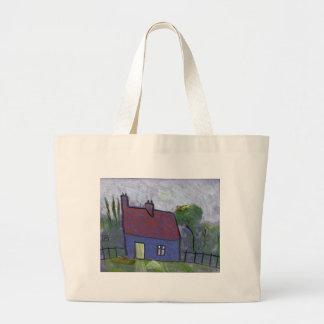 (Brittany harvest time) Large Tote Bag