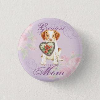 Brittany Heart Mom Button