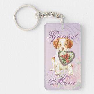 Brittany Heart Mom Double-Sided Rectangular Acrylic Keychain