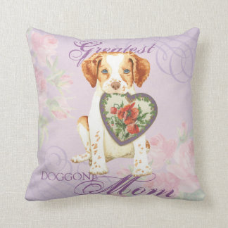 Brittany Heart Mom Throw Pillow