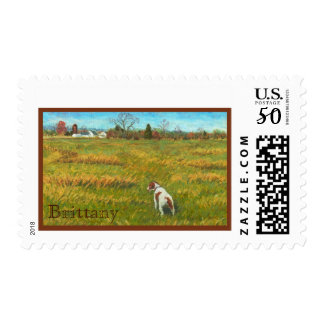 Brittany in the Field Postage