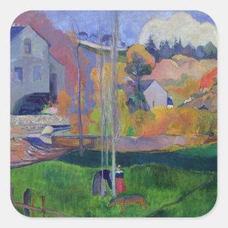 Brittany Landscape: the David Mill, 1894 Square Sticker