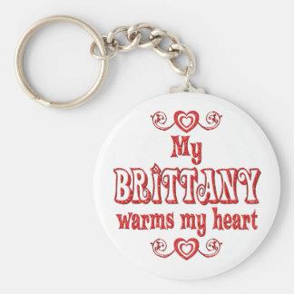 BRITTANY Love Basic Round Button Keychain