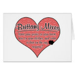Brittany Mixes Paw Prints Dog Humor Greeting Card