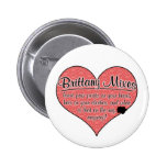 Brittany Mixes Paw Prints Dog Humor Pinback Button