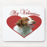 Brittany My Valentine Mouse Mat