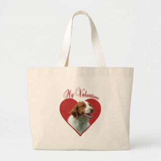 Brittany(orange) Valentine Tote Bags