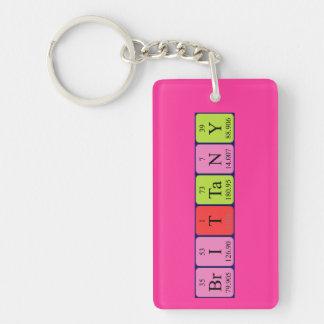 Brittany periodic table name keyring Single-Sided rectangular acrylic keychain