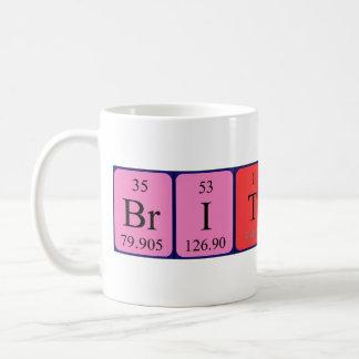 Brittany periodic table name mug