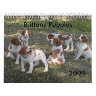 Brittany Puppies Calendar 2009