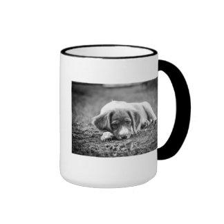 Brittany Puppy Ringer Coffee Mug