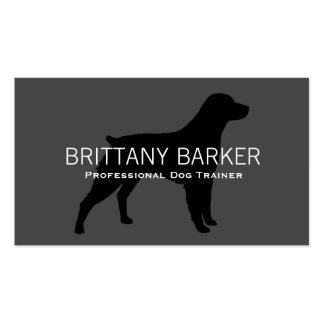 Brittany Silhouette Black on Grey Business Card Templates