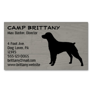 Brittany Silhouette Magnetic Business Card