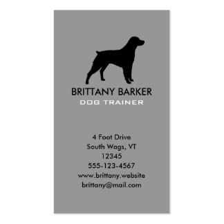 Brittany Silhouette Vertical Business Card Template