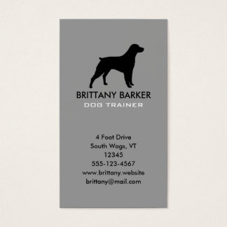Brittany Silhouette Vertical Business Card