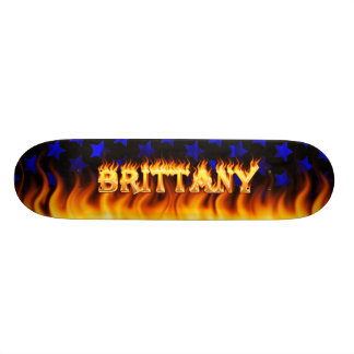 Brittany skateboard fire and flames design.