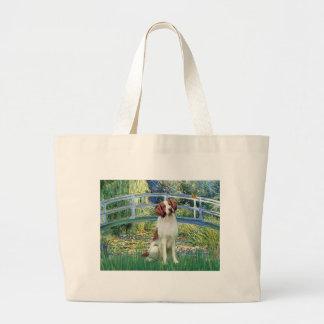 Brittany Spaniel 3 - Bridge Large Tote Bag