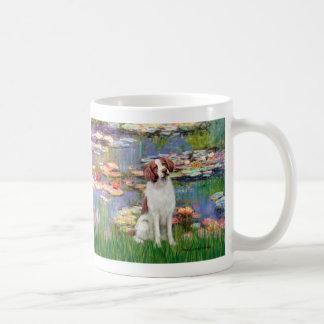Brittany Spaniel 3 - Lilies 2 Classic White Coffee Mug