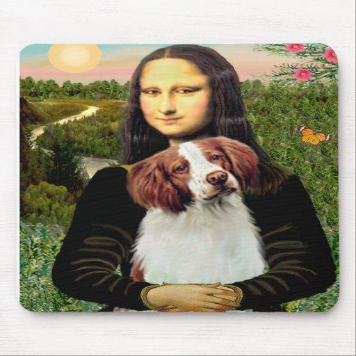 Brittany Spaniel 3 - Mona Lisa Mouse Mats