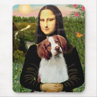 Brittany Spaniel 3 - Mona Lisa Mouse Pad
