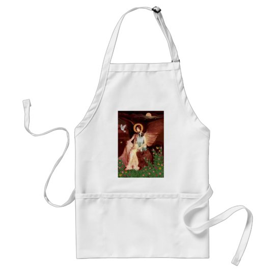 Brittany Spaniel 3 - Seated Angel Adult Apron