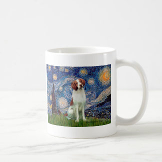 Brittany Spaniel 3 - Starry Night Coffee Mug