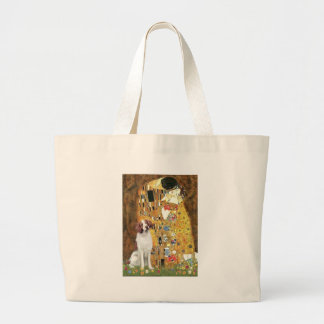 Brittany Spaniel 3 - The Kiss Tote Bags
