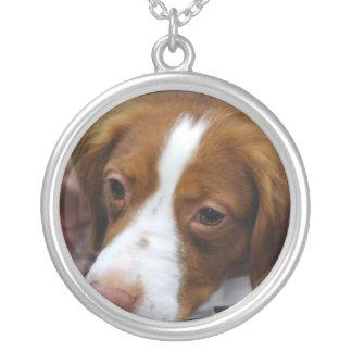 brittany-spaniel-7.jpg round pendant necklace
