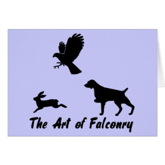 Brittany Spaniel and Falconry Card