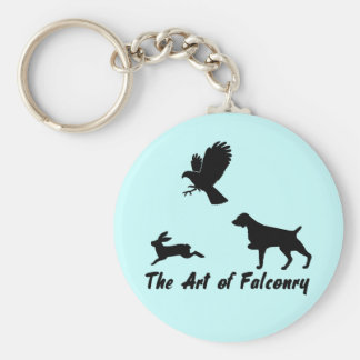 Brittany Spaniel and Falconry Keychains