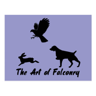 Brittany Spaniel and Falconry Postcard