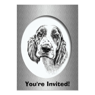 "Brittany Spaniel Anniversary Invitation template 5"" X 7"" Invitation Card"