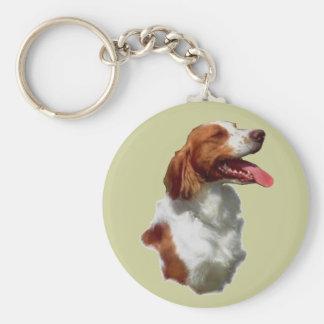 Brittany Spaniel Art Gifts Basic Round Button Keychain